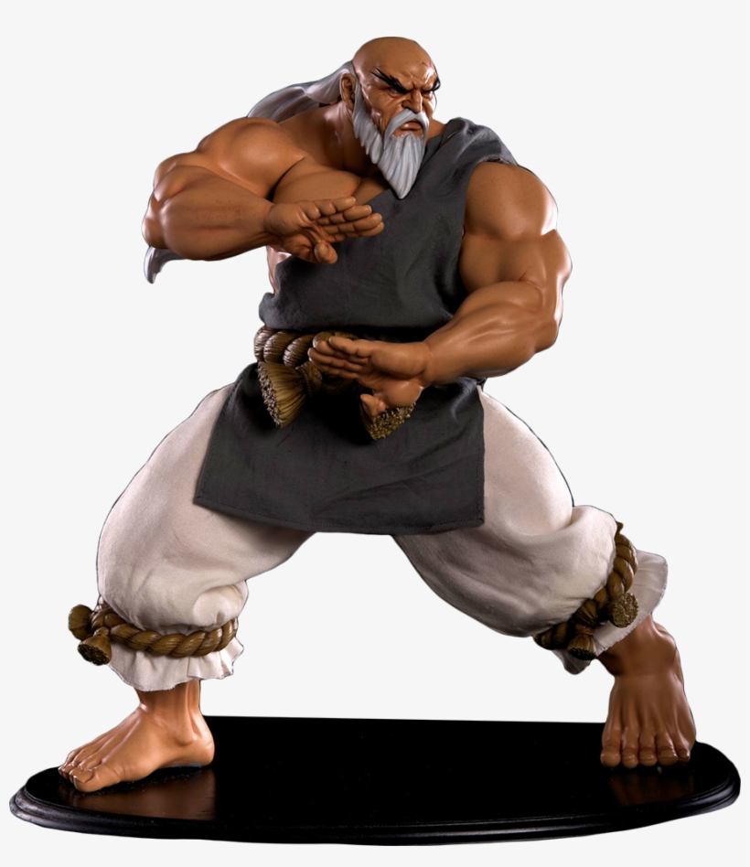 Gouken Mixed Media 1/4 Scale Statue - Street Fighter: 1/4-scale Gouken Statue, transparent png #5981454