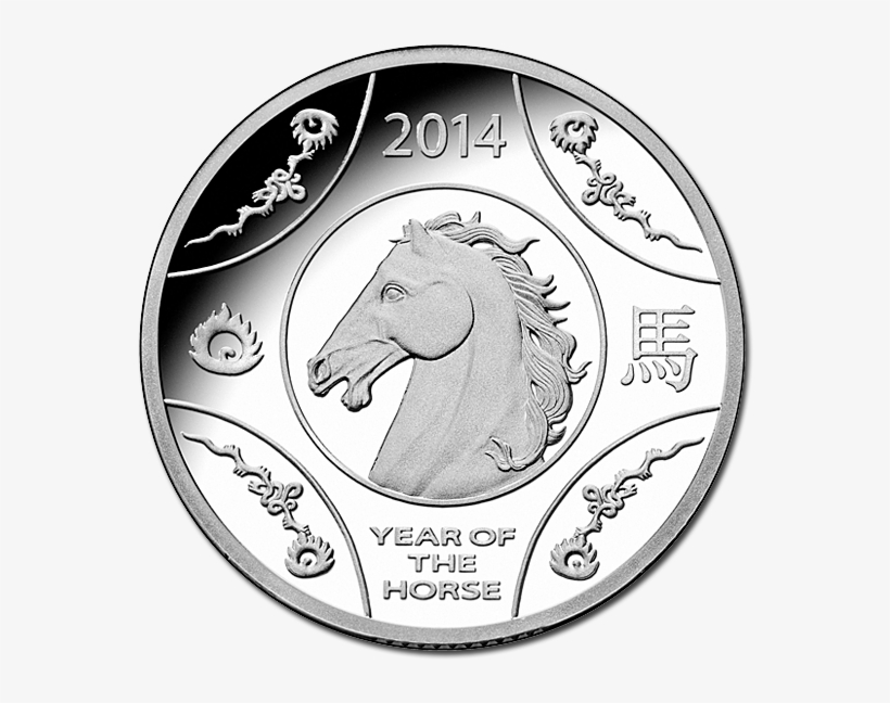 2014 Australian Year Of The Horse Silver Proof Coin - 2015 Lunar Year Of The Goat Fine Silver Coin, transparent png #5981743