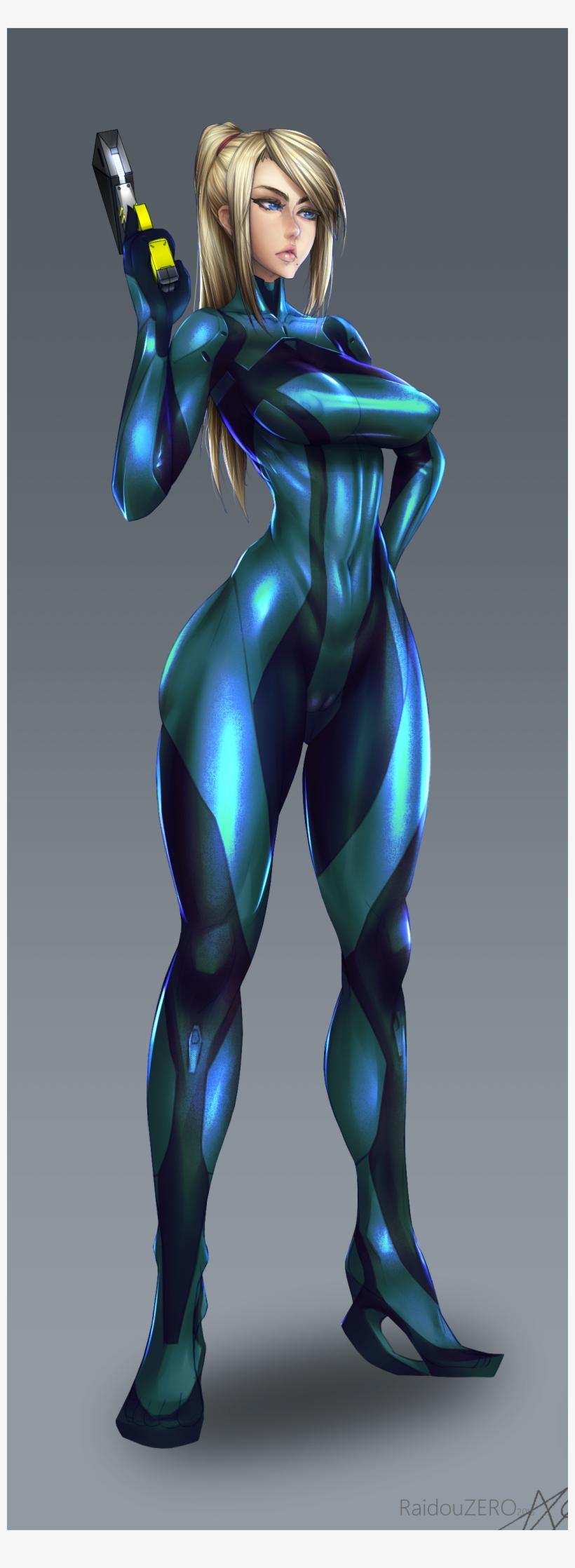 Zero Suit Samus Samus Aran 3d Sexy Free Transparent Png