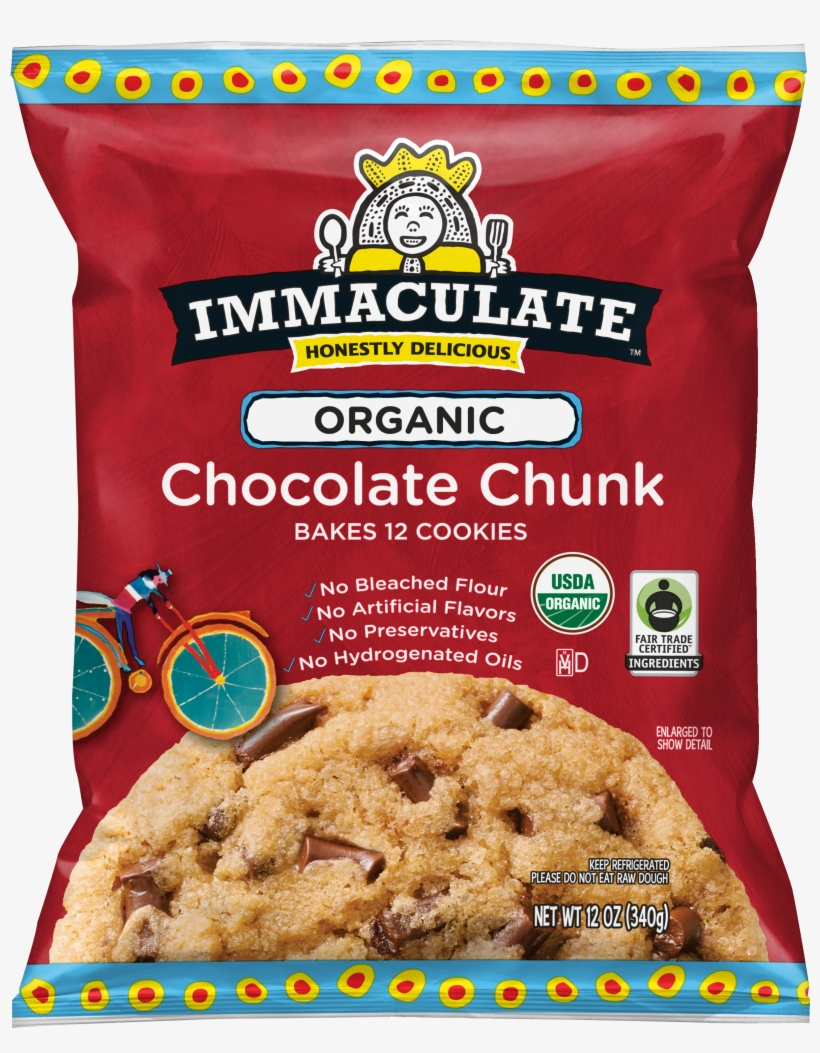 Picture Black And White Our Products Immaculate Baking - Immaculate Chocolate Chip Cookies, transparent png #5984280