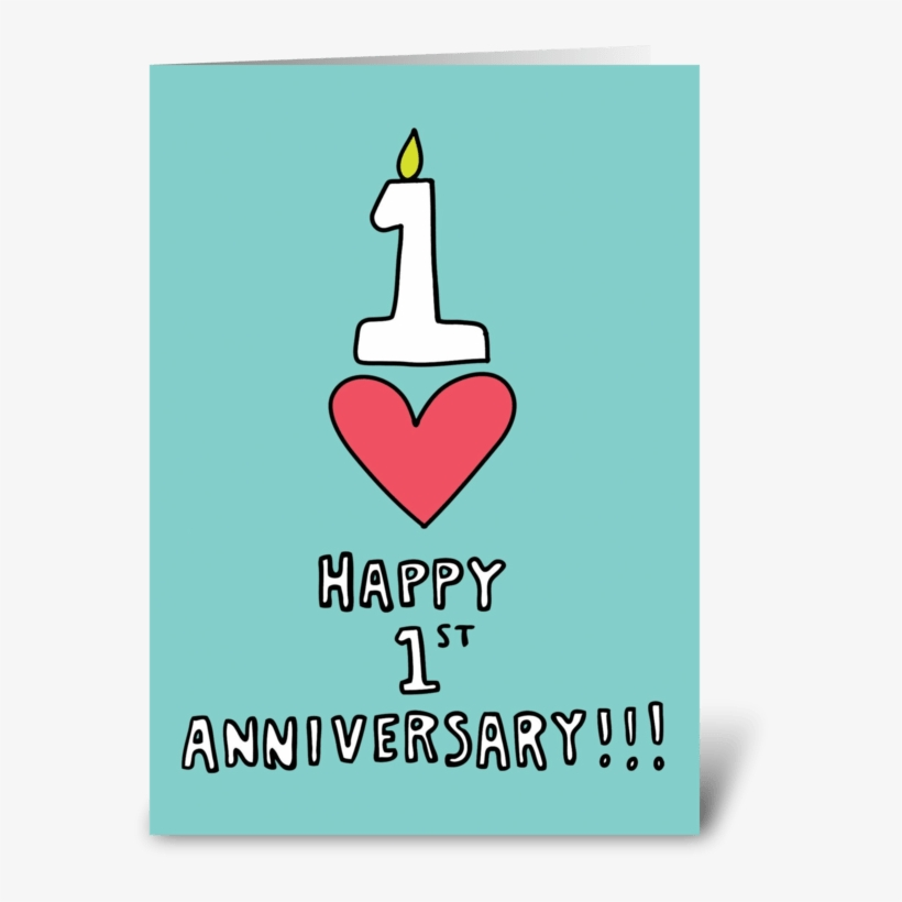 Happy 1st Anniversary, transparent png #5989308