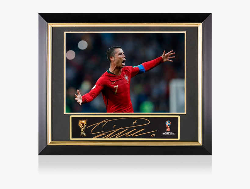 Cristiano Ronaldo Official Fifa World Cup Signed Plaque - Cristiano Ronaldo Fifa World Cup 2018, transparent png #5990588