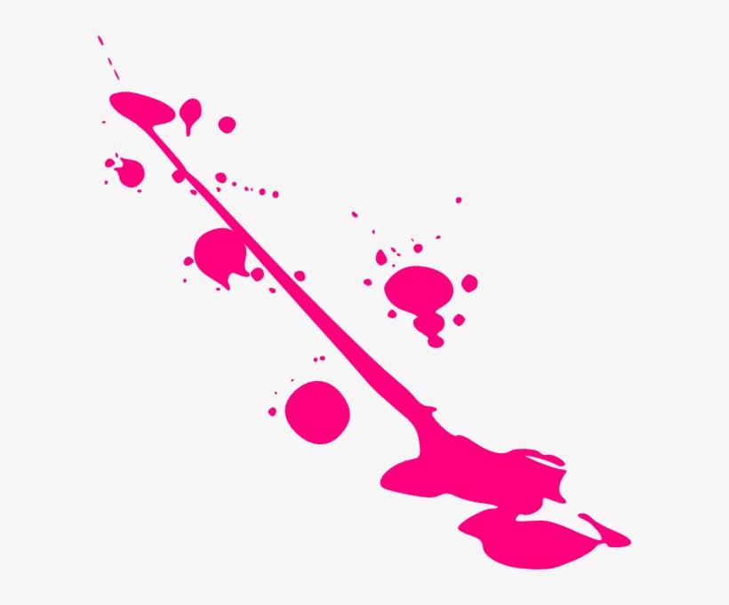 Paint Pink Splatter Clip Art At Clker - Pink Paint Splat Png, transparent png #60072