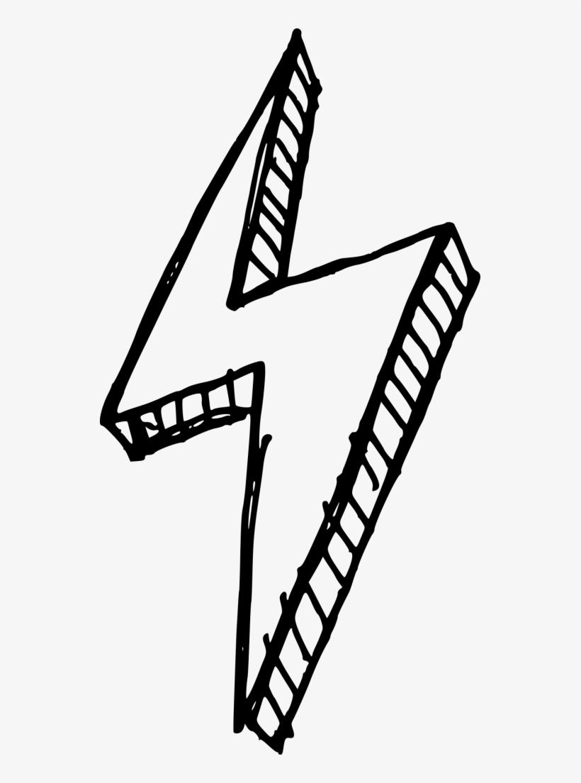 28 Collection Of Lightning Drawing Png - Lightning Bolt Png, transparent png #60390