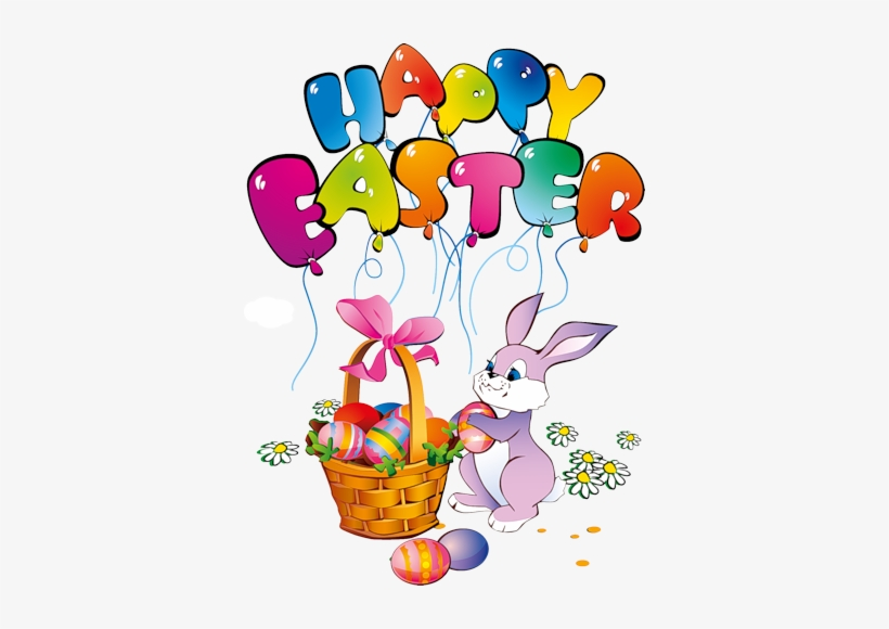 Png Transparent Stock Easter Clipart Watercolor - Easter Bunny Happy Easter, transparent png #60935