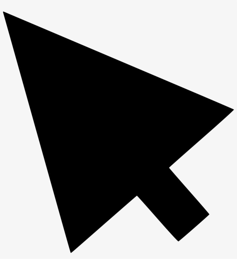 Cursor Mouse Pointer - Black Mouse Pointer Png, transparent png #61251