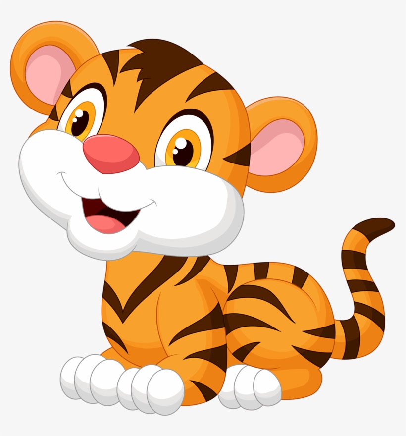 Baby Big Cats Png Baby Tiger Cartoon Free Transparent Png Download Pngkey