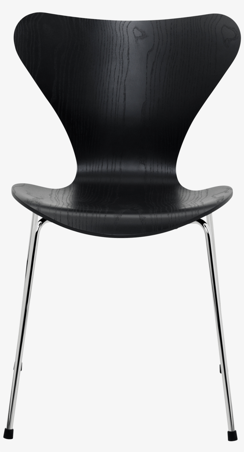 Series 7 Chair Arne Jacobsen Coloured Ash Black - Fritz Hansen Series 7 Chair By Arne Jacobsen, transparent png #61536