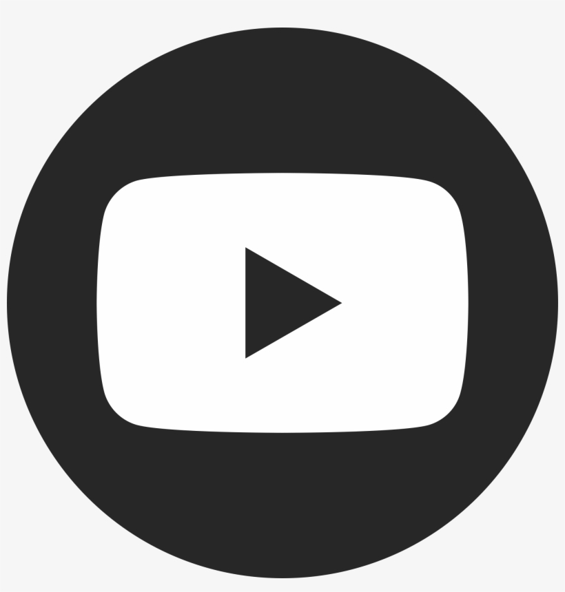 Transparent Youtube Circle - Youtube Icon Black And White, transparent png #61720