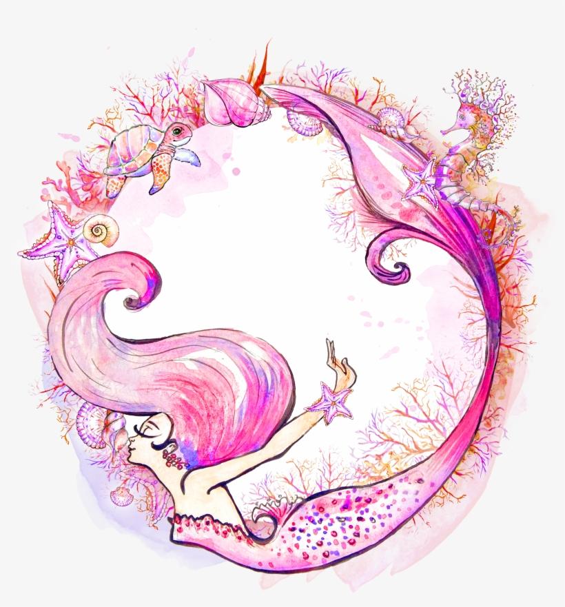 Mermaid Watercolor Painting Siren Clip Art - Mermaid Watercolor Clip Art, transparent png #61743