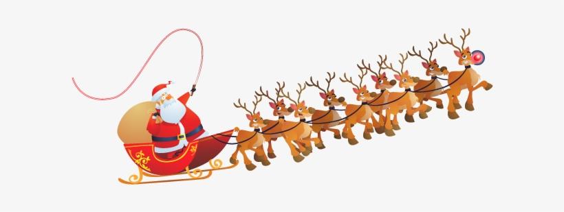 Santa Claus Free Png Image - Santa Claus Sleigh Png, transparent png #62038