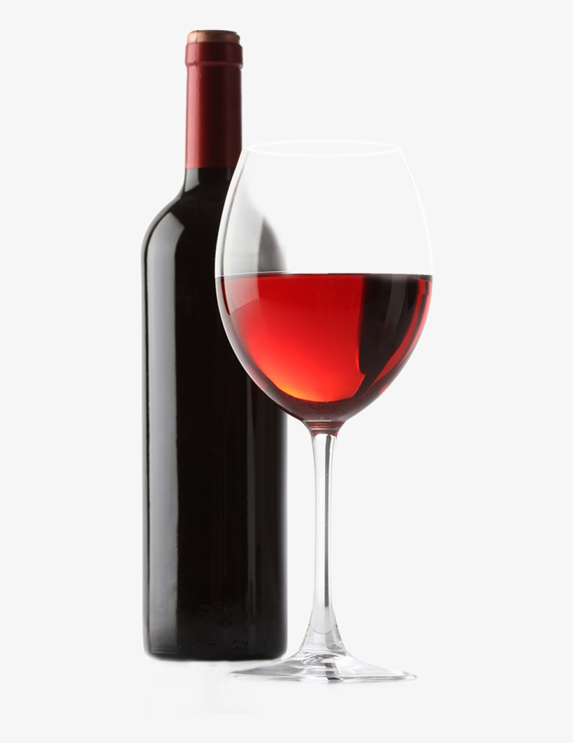Red White Transprent Download Wine Bottle And Glass Png Free Transparent Png Download Pngkey