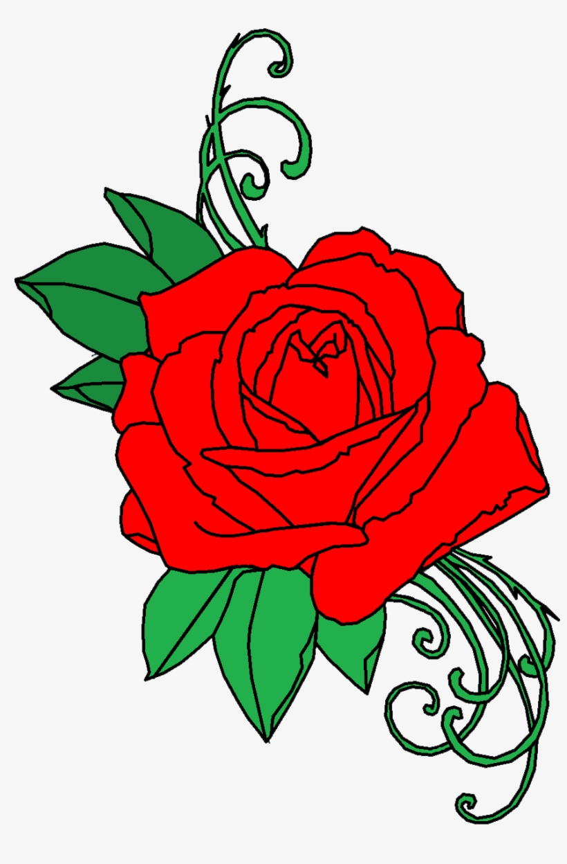 Rose Tattoo Png Transparent Free Images - Roses Tattoo Png, transparent png #62125