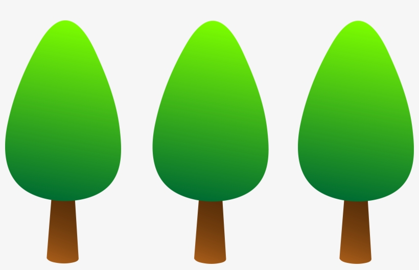 Pine Tree Clipart Png - Three Trees Clip Art, transparent png #62490