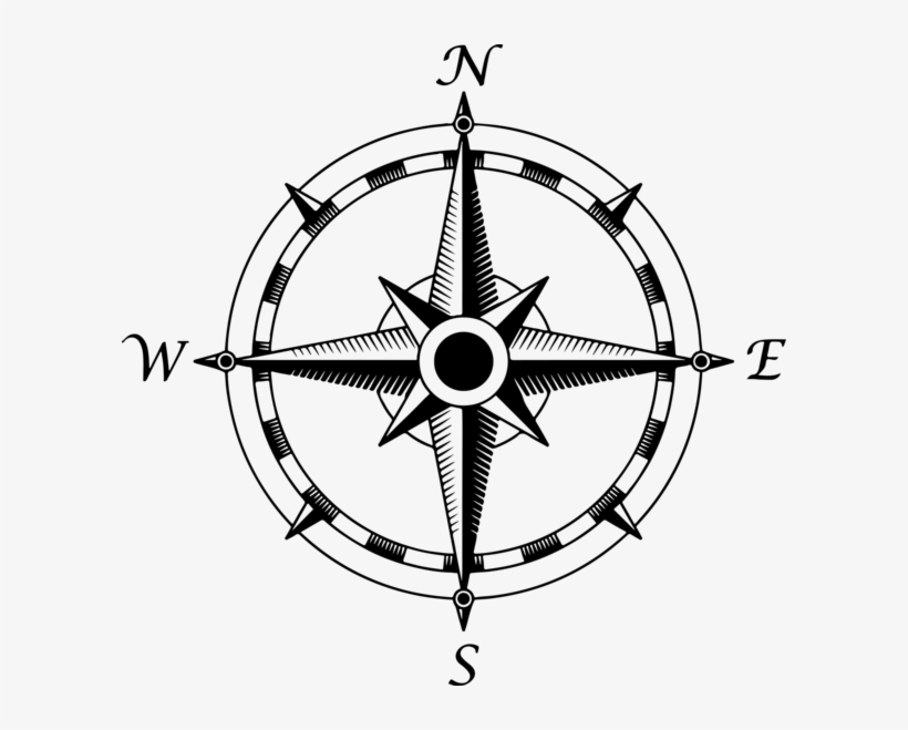 Compass Rose By Draconicparagon-d6rjgqi - Transparent Background Compass Png, transparent png #63124