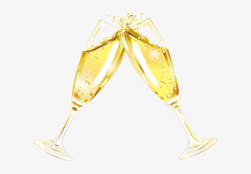 Картинки бокалы с шампанским на прозрачном фоне, днем друзей