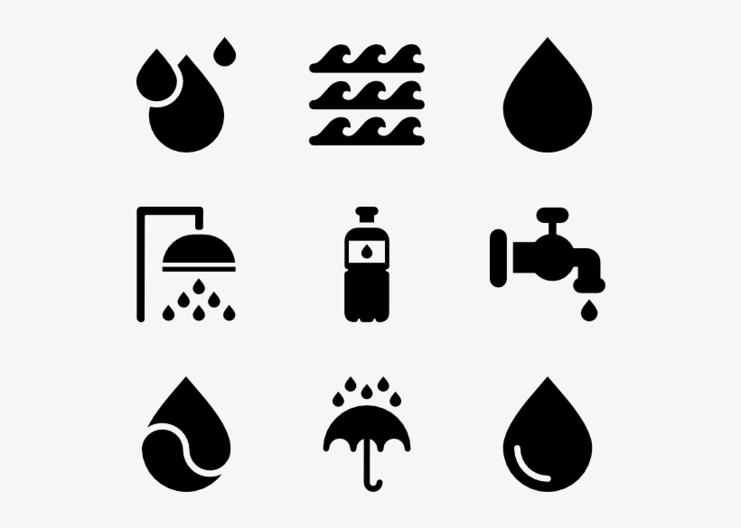 Water - Water Icons, transparent png #63654