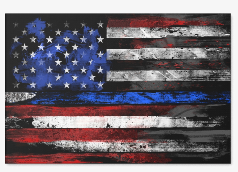 Blue Line Flag Png - Flag Of The United States, transparent png #63720