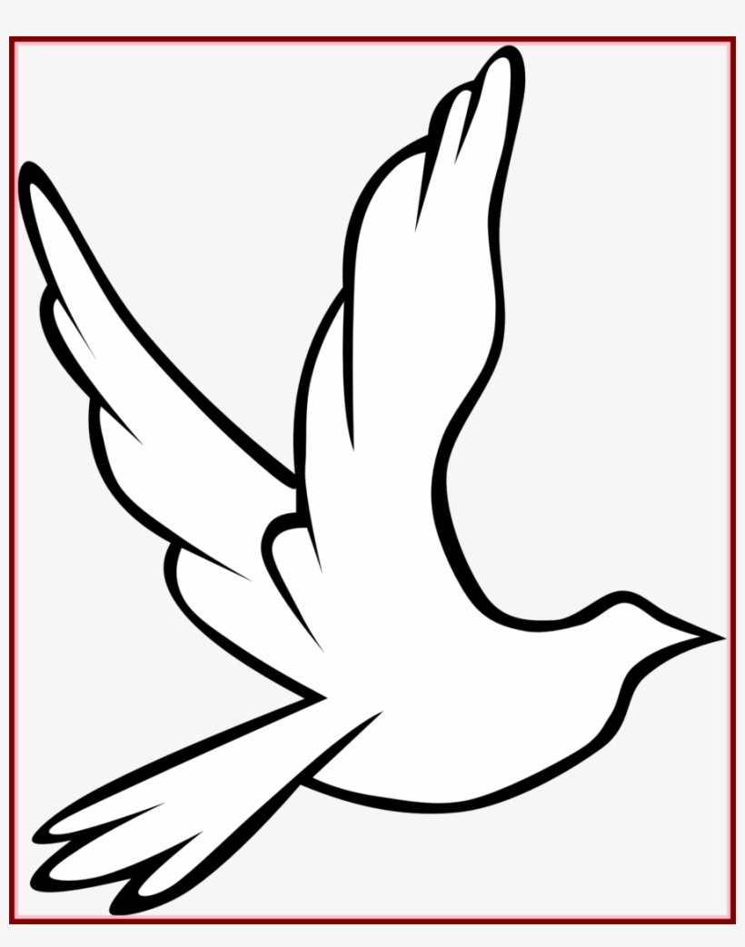 Download Holy Spirit Dove Outline Clipart Pigeons And - Dove Holy Spirit, transparent png #64120