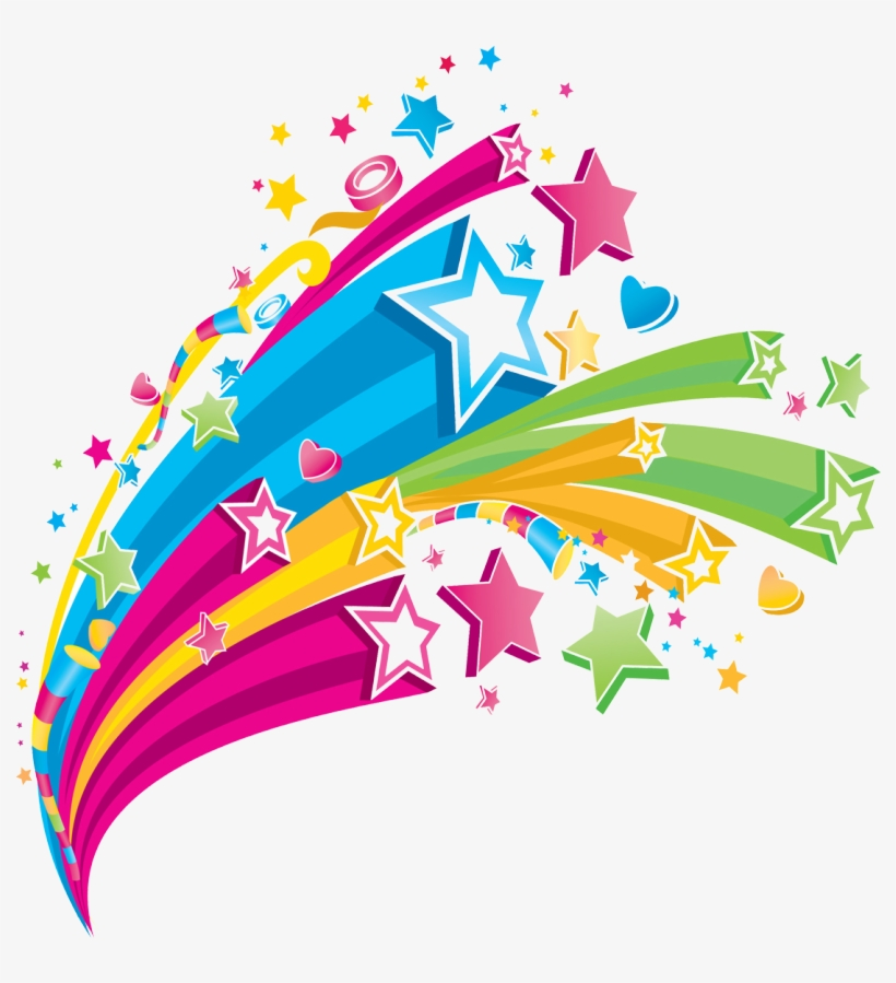 Colorful Stars Abstract Star Vector Png Free