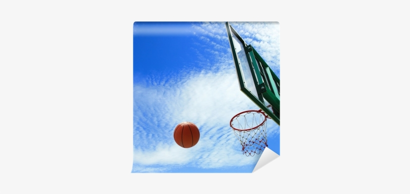 Spinning Basketball Uses The Backboard To Bounce Into - Basketball, transparent png #65044