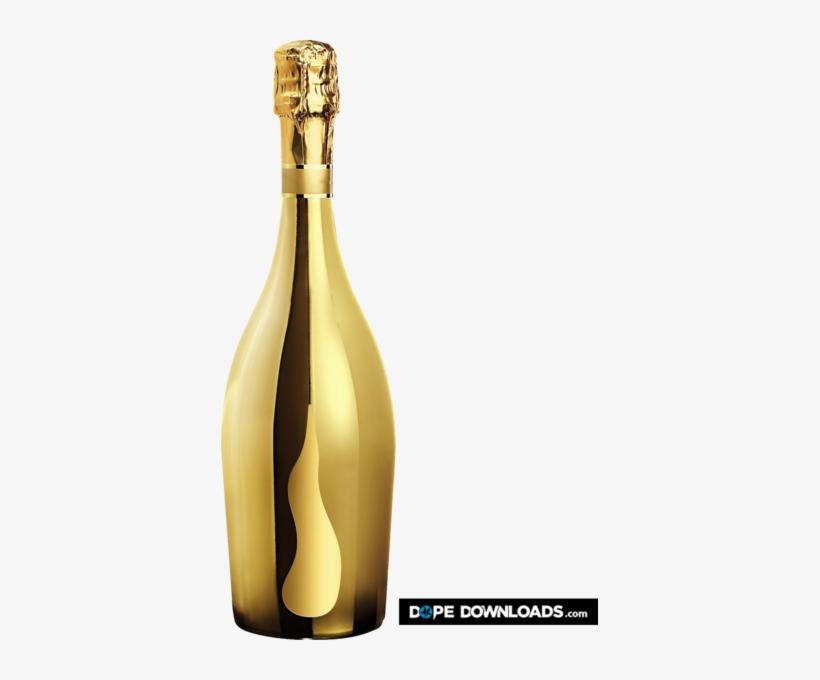 Gold Champagne - Gold Champagne Bottles Png, transparent png #65655