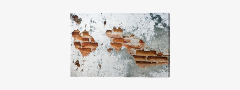Old Brick Wall Background - Canvas Print, transparent png #65890