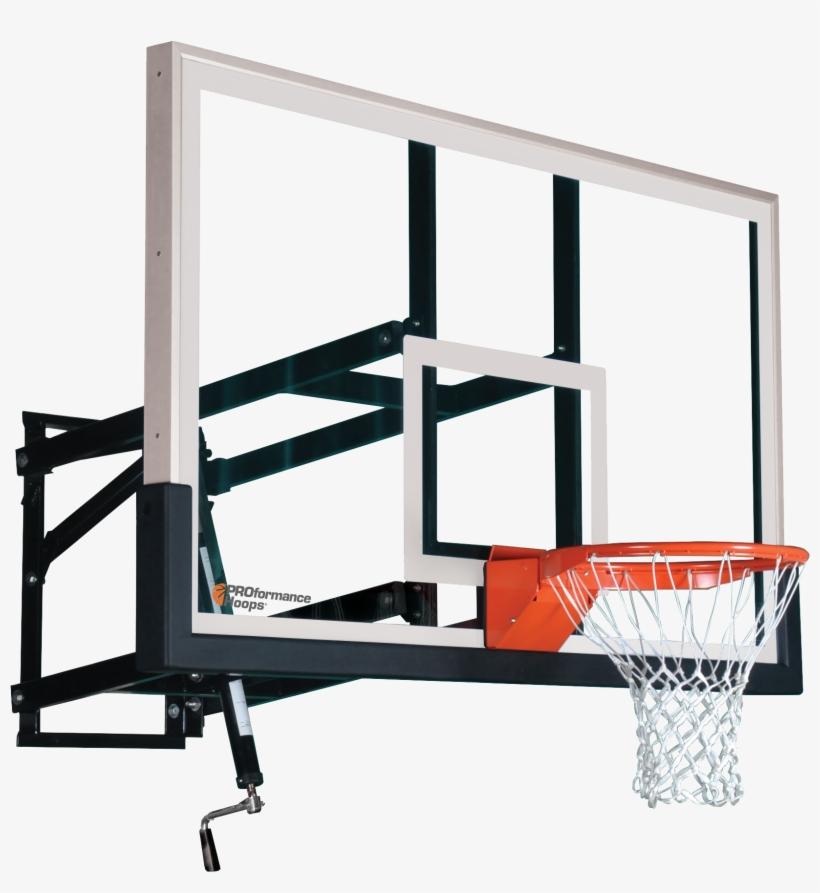 Wall Mount Wm72 Adjustable Basketball Hoop With 72 - Basketball Hoop Png, transparent png #66261