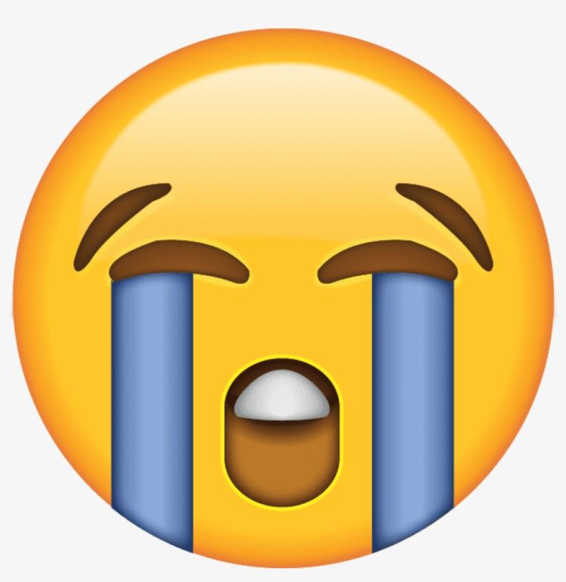 Laugh Cry Emoji Png - Crying Face Emoji Png, transparent png #66453