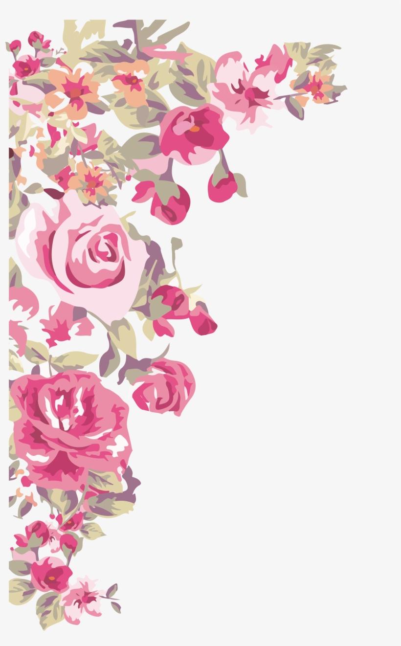 Flower Wallpaper Painted Transprent Border Design Corner Flower