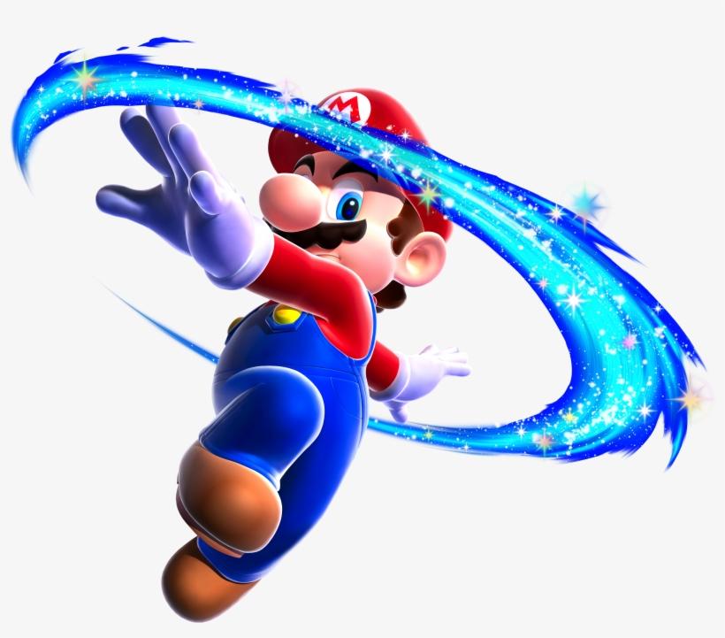 Mario Spin Art - Super Mario Galaxy Mario, transparent png #66798