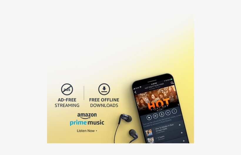 Amazon Prime Music Stream Millions Of Songs, Ad-free - Amazon Mobile, transparent png #67049