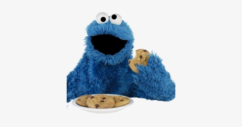 Something New Veggie Monster, Cookie Monster Eating - Cookie Monster And Cookies, transparent png #67134