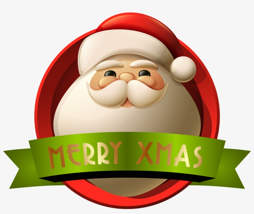Santa Merry Xmas Decoration Png Clip - Santa Claus Merry Christmas Png, transparent png #67245