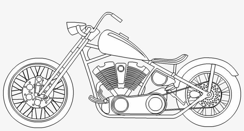 Motorcycle - Harley Davidson Motor Bike Drawings, transparent png #68268