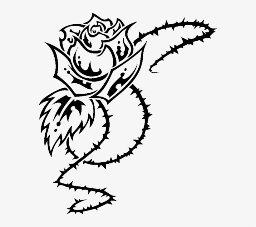 Rose Tribal By Hallowgazer On Deviantart Clip Royalty Rose Tribal