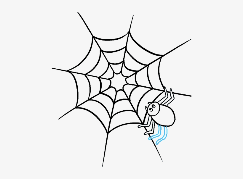 Spiders Drawing Realistic - Easy Spider Webs Drawing, transparent png #68727