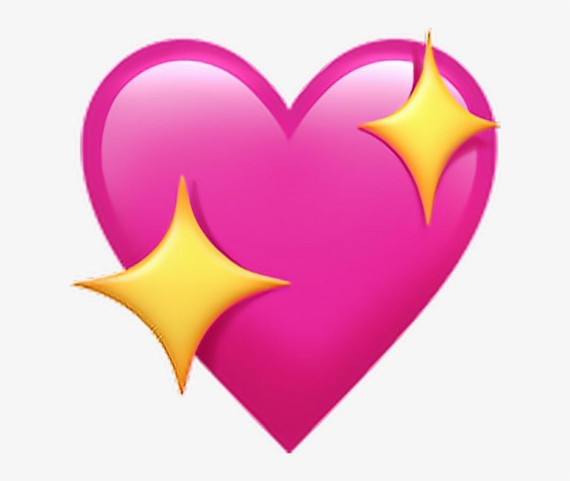 Emoji Emojicoração Coração Emoticons Heart Png Pngs - Sparkling Heart Emoji, transparent png #68924
