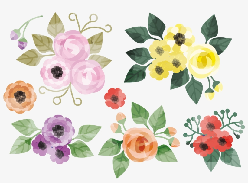 Floral Design Flower Watercolor Painting Creative Watercolor - Flower Watercolor Vector, transparent png #69797