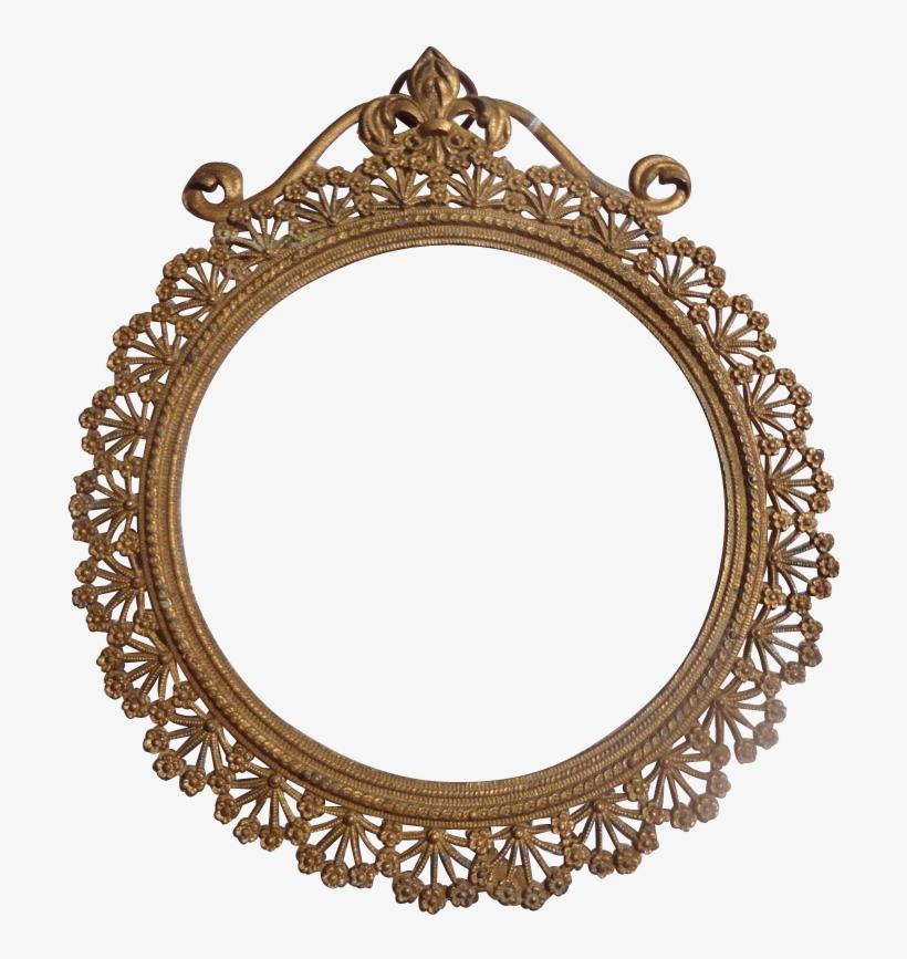 Fancy Oval Frame - Art Nouveau Circle Frames, transparent png #600546