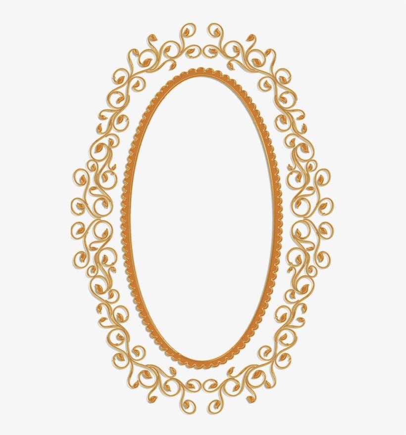 I - Oval Vintage Frame Png, transparent png #600699