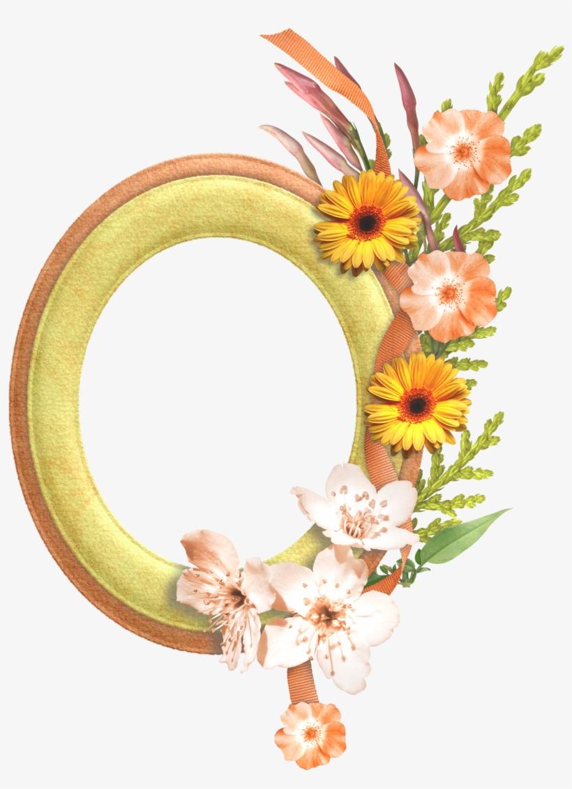 Flower Oval Frame Png, transparent png #600946