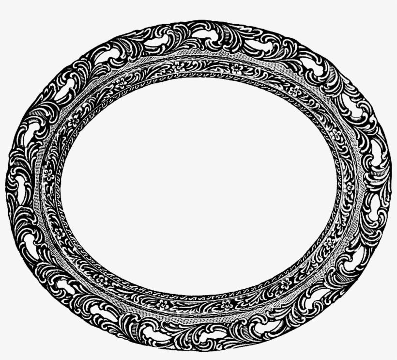 Vintage Black Frame Png Oval Clip Art Image Rh Affashion - Oval Picture Frames Clip Art, transparent png #601295
