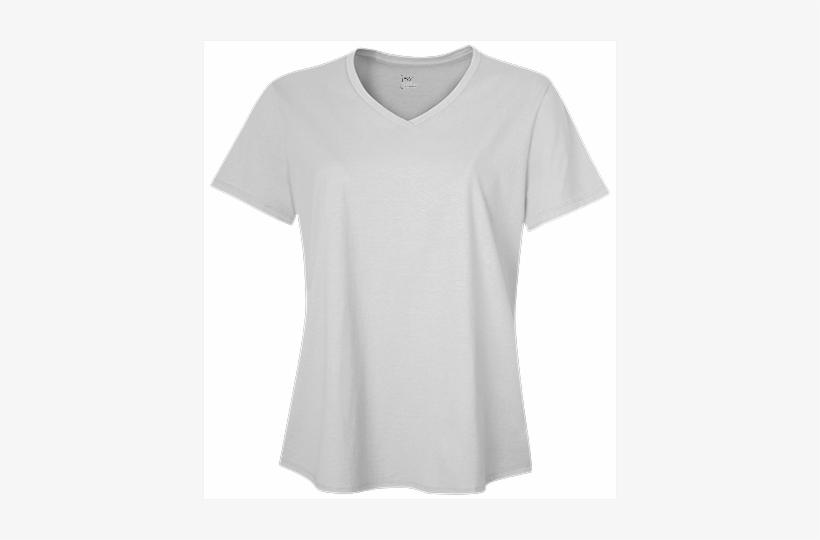 Jms30 Women's Jms ® V Neck T Shirt - Women's White T Shirt Transparent, transparent png #601371