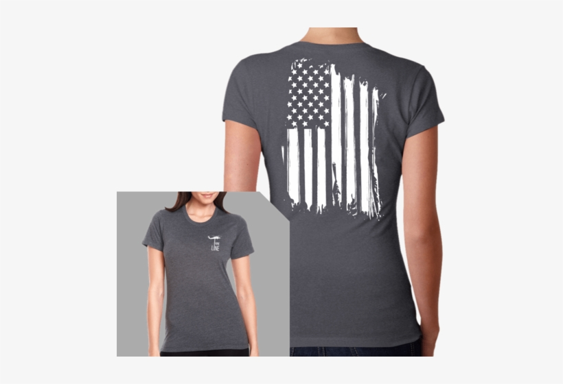 American Ladies T-shirt - Nine Line T Shirts, transparent png #602410