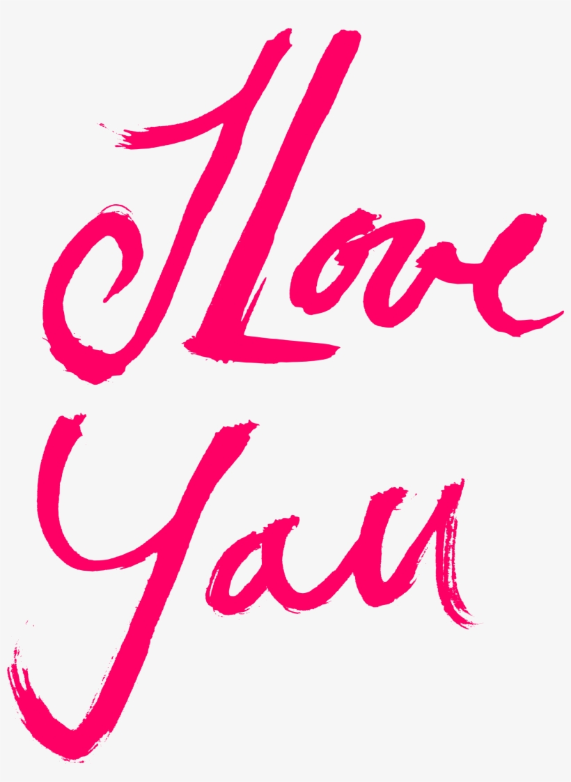 Free Download - Love You Text Png, transparent png #602459