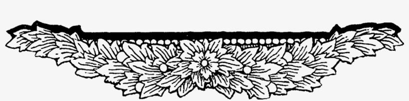 Digital Floral Border Downloads - Vintage Flowers Border Design Png, transparent png #602750