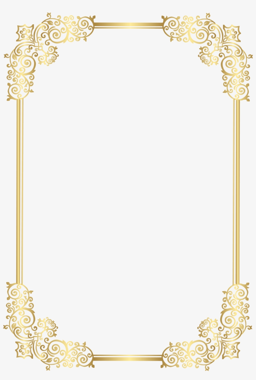 Border Clip Art Png Image Gallery Yopriceville - Decorative Border For Photo Frame, transparent png #603088