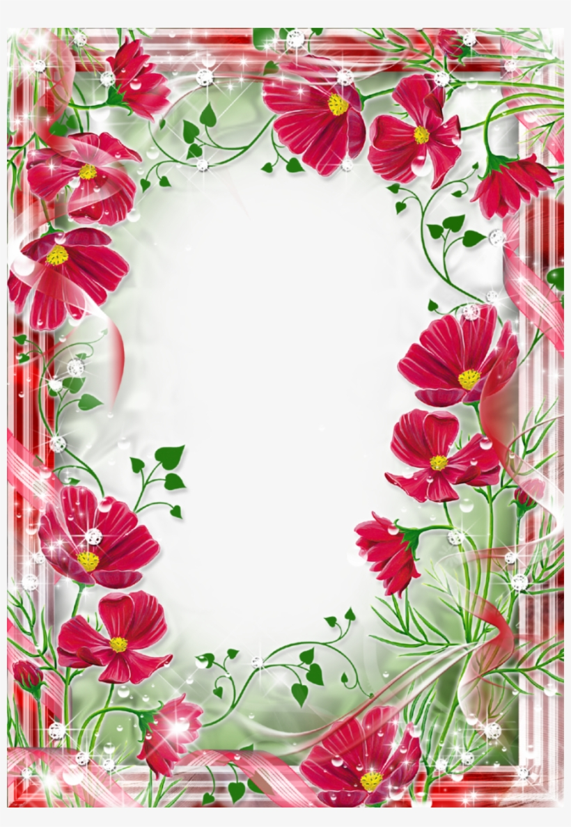 Beautiful Frame Flowers Clipart Picture Frames Flower - Beautiful Flowers Photo Frames, transparent png #603615