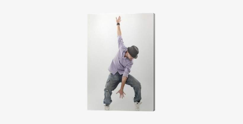 Hip Hop Dancer Isolated Over White Background Canvas - Hip Hop Music, transparent png #603973
